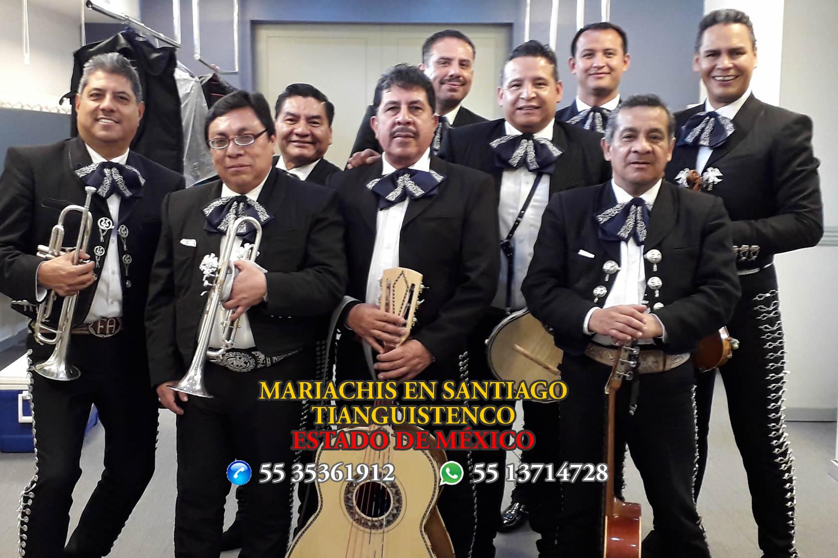 Mariachis en Santiago Tianguistenco